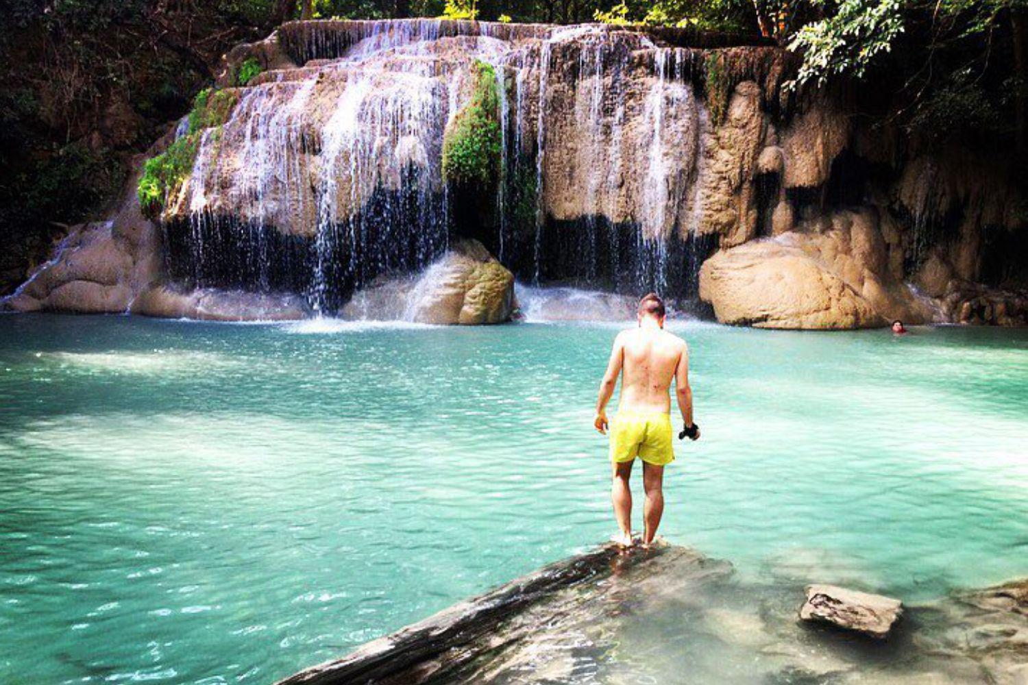 ERAWAN WATERFALL + TREKKING + ELEPHANT RIDDING + ELEPHAN BATH (MINIMUM 2PAX)